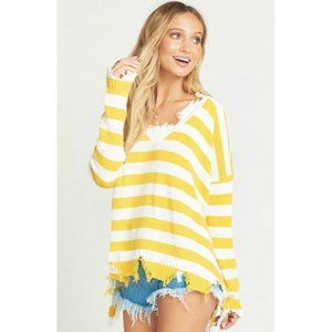 NEW Mumu Delphina Distressed Sweater Destroyed XL